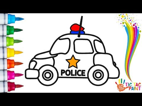 Coloring Pages / How to Draw a Toy Police Car for Kids, Toddlers  - Tic Tac Paint
