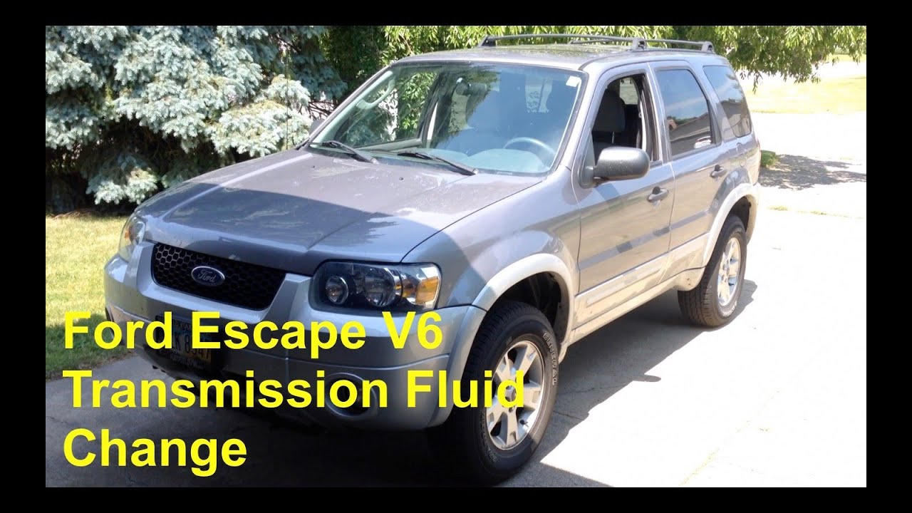 2001 2007 Ford Escape V6 Transmission Fluid Change Cd4e