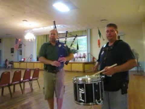 Scotland the Brave, Great Highland Bagpipes with snare drum