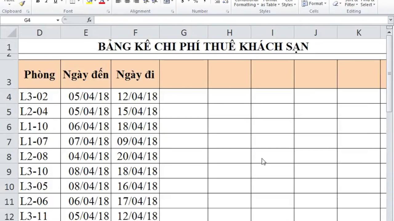 Cách dùng các Hàm Excel cơ bản và thông dụng