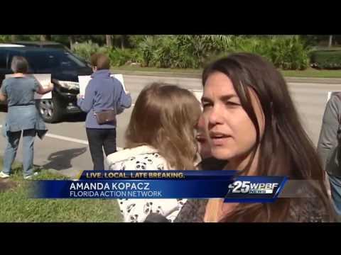 Dozens gather outside Senator Marco Rubio's office asking for change