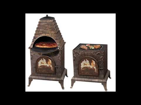 Aztec Allure Cast Iron Pizza Oven Chiminea Outdoor Pizza
