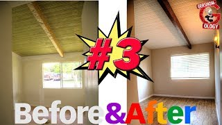 BEFORE & AFTER Home Renovation Pt. 3  - (Staining Wood Beams)