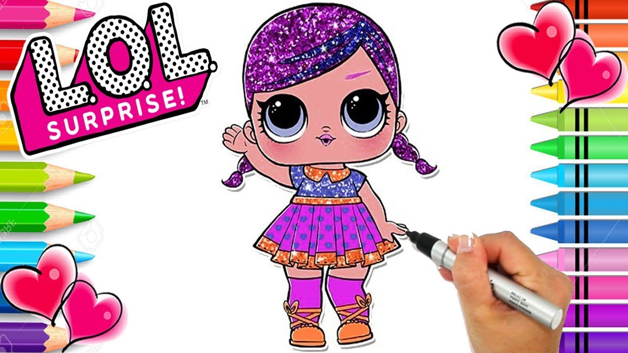 Super Bb Lol Surprise Coloring Page Glitter Series Lol Dolls