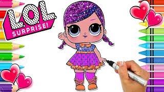 Super BB LOL Surprise Coloring Page | Glitter Series | LOL Dolls Coloring Book | Glitter Art |