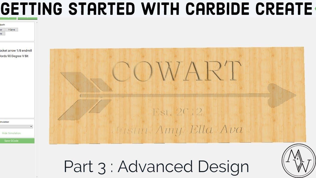 Carbide Create Shapeoko Basics - Part 3: Advanced Design // CNC Woodwork