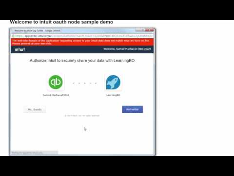 Connect to Quickbooks using Intuit Oauth - NODE JS - YouTube