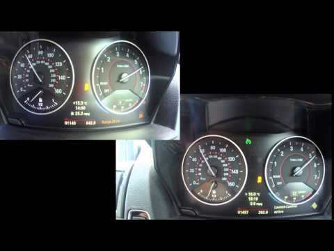 BMW M135i 0-100 Mph Auto VS Manual Acceleration Video