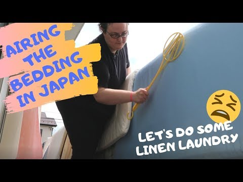 Airing the Beds in Japan | Washing the bedding