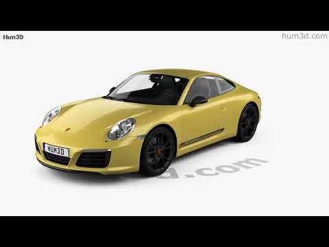 Porsche 911 Carrera T 2017 3D model by Hum3D.com