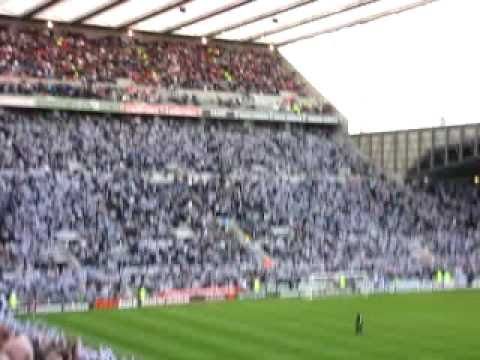 Newcastle United fans singing at St James park