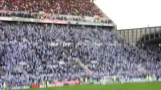Newcastle United fans singing at St James park