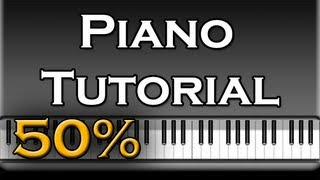 50 Cent Feat  Eminem & Adam Levine - My Life Simple Piano Tutorial [50% speed] (Synthesia)