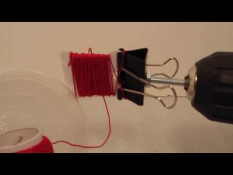 Use a Drill to fill a Floss Bobbin
