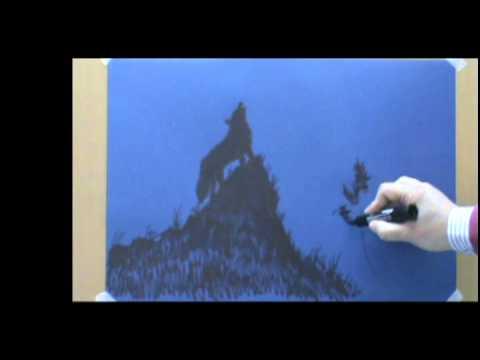 Disegno del lupo che ulula youtube for Lupo disegno a matita