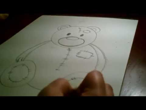 Lets draw A Teddy Bear Lesson for Kindergarten and Preschool Aged Children.