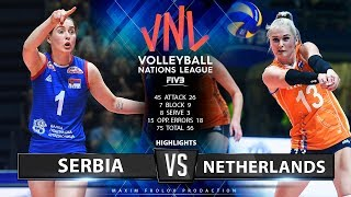 Serbia vs. Netherlands | Highlights | Women's VNL 2019