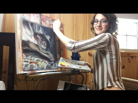 Oil Painting the Trees ASMR Whispers   Paint Sounds