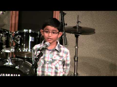 Rohan K 44 School of Music  Seattle Student Concert 2013  Voice Lessons
