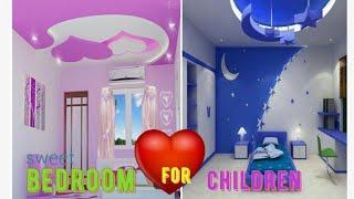 Sweet bedroom designs for children,false ceiling design for children bedroom