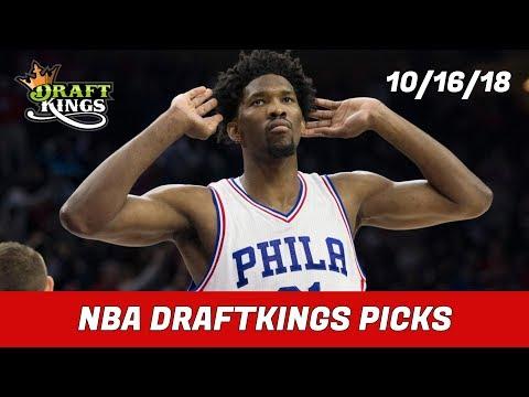 10/16/18 NBA DraftKings Picks - Money Six