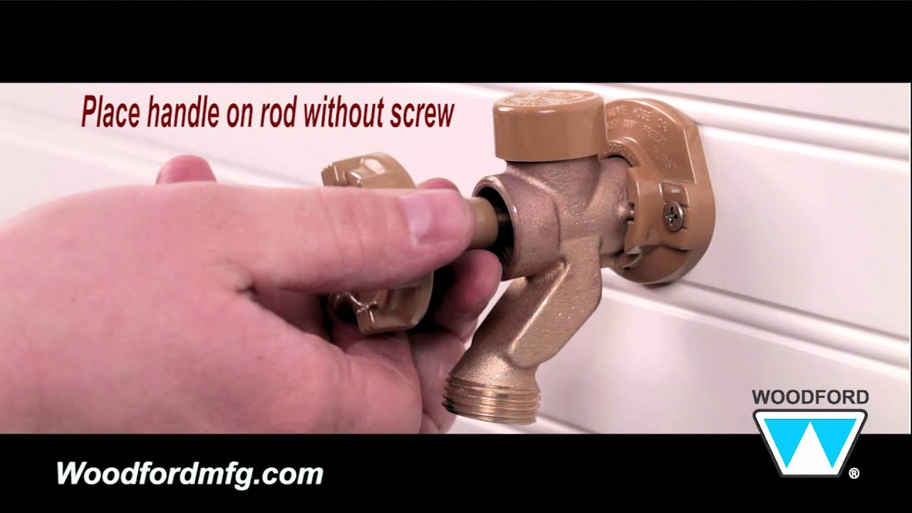 Woodford Model 17 Outdoor Faucet Repair Kit Installation - YouTube