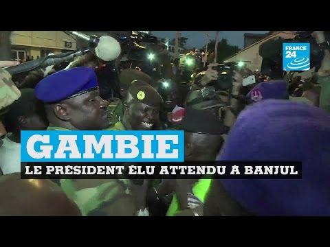 Gambie : le président élu Adama Barrow attendu à Banjul