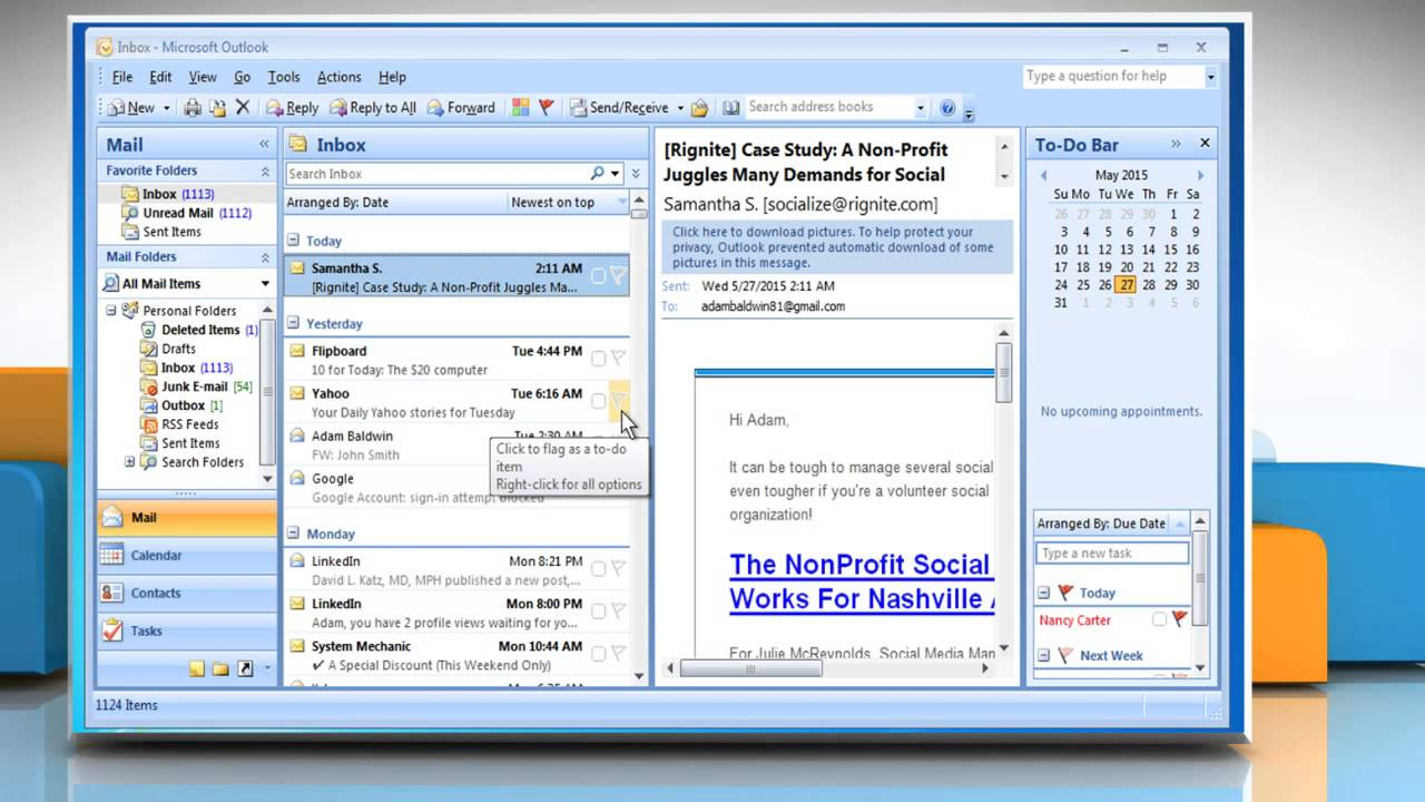 How to set up digital signature in outlook