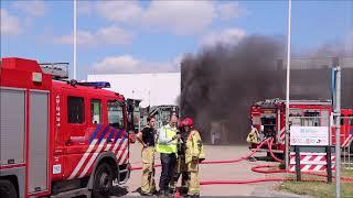 Grote Bedrijfsbrand In Het Westerlijk Havengebied In Amsterdam.