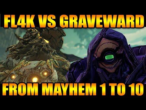 Mayhem 2.0 Graveward Killing From Mayhem 1 - Mayhem 10 | Gunboy FL4K | Borderlands 3 Fade Away Build