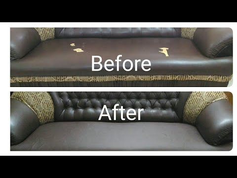 How To Fix Ling Leatherite Sofa At, In Home Furniture Repair