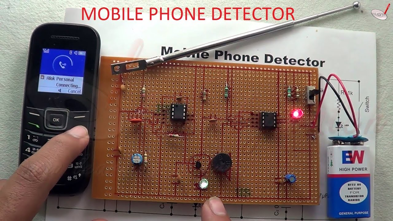 Mobile Phone Detector Circuit Using Arduino Worksheet And Wiring Cell Diagram How To Make Youtube Rh Com