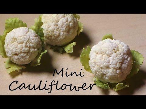 EASY Miniature Cauliflower - Polymer Clay Tutorial