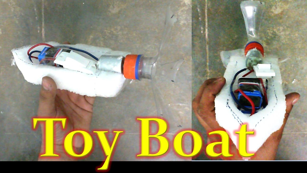 How to Make a Toy Boat - YouTube