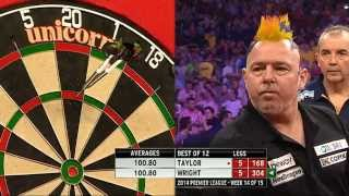Betway Premier League Darts 2014 Week Week 14 Phil Taylor v Peter Wright
