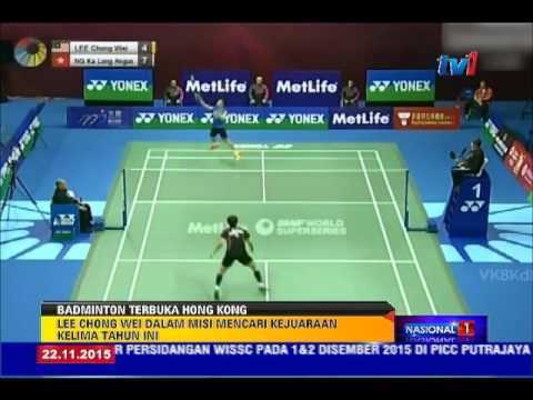 BADMINTON TERBUKA HONG KONG - CHONG WEI KE FINAL [22 NOV 2015]