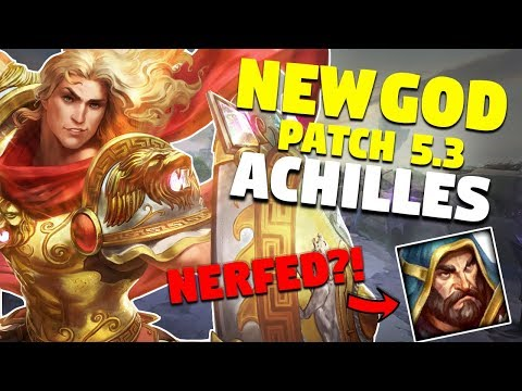 SMITE Achilles Patch | 5.3 Patch Notes | Freya, Ullr & Serqet Nerfs!