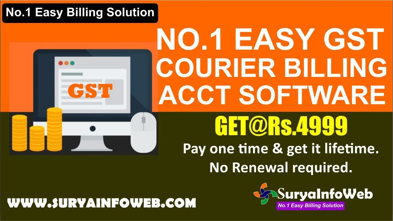 Courier Billing Software Demo | SuryaInfoWeb com