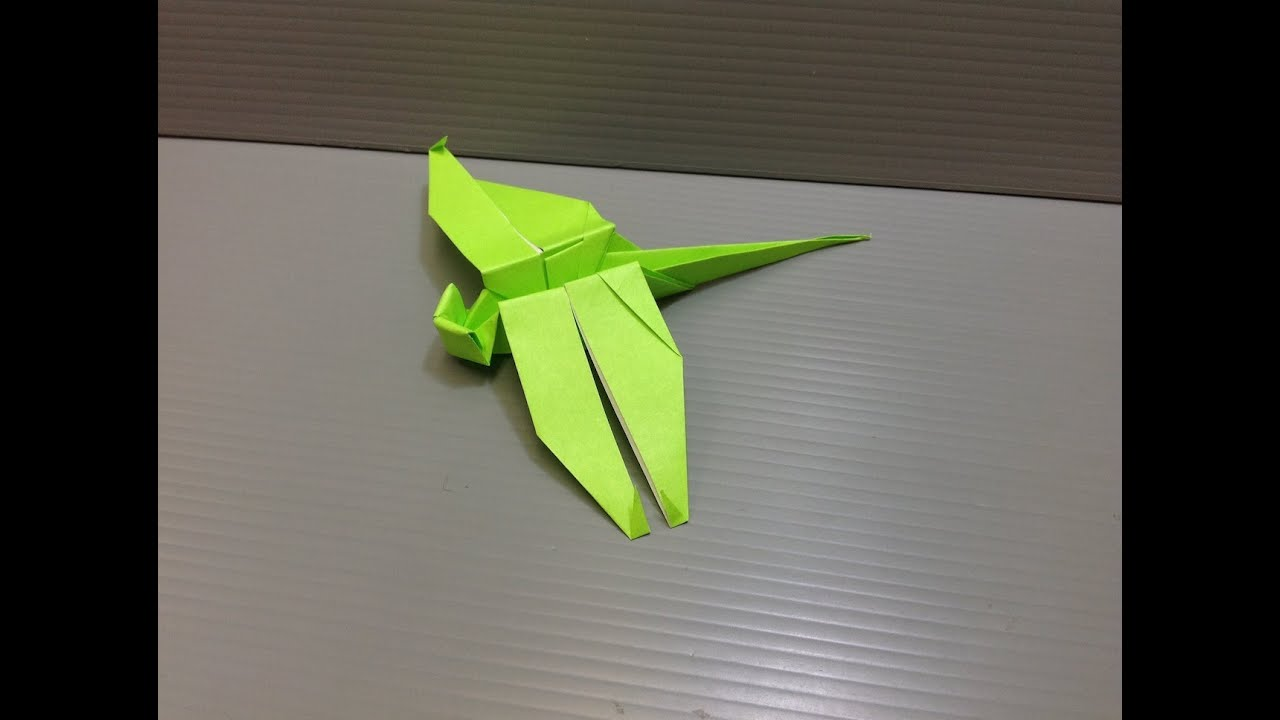 Daily origami 062 dragonfly youtube jeuxipadfo Image collections