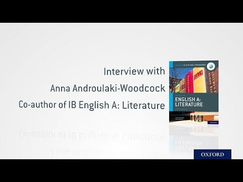 Interview With IB DP English A Literature Author Dr. Anna Androulaki-Woodcock