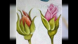 Veja como pintar botão de rosa – Pintura em tecido
