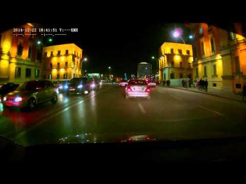 Car Camera Captures  Tirana Highway 2014-12-22
