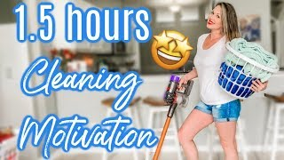 🤩CLEAN WITH ME MARATHON | OVER 1 1/2 HOURS OF CLEANING | EXTREME CLEANING MOTIVATION