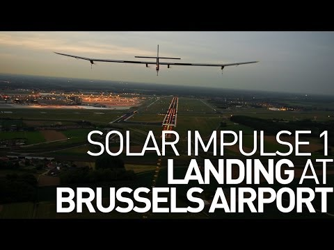 Brussels Airport Landing - Solar Impulse 1