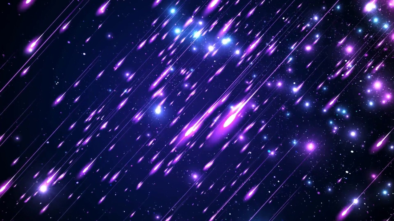 4k 60FPS SHOOTING STARS ☄ Deep Purple BLUE SPACE ☄ Moving ...