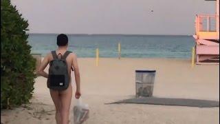 Где телки?! Нудисткий Пляж... Майами.
