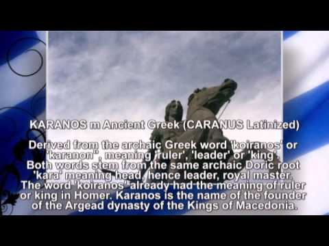 Ancient Macedonian names part I