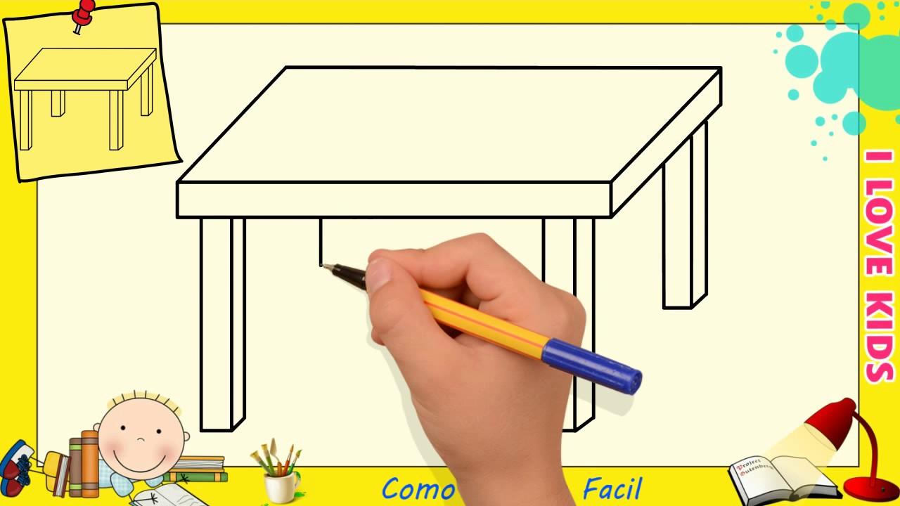 Dibujos De Mesas Faciles Paso A Paso Para Niños Como Dibujar Una Mesa Facil