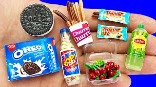 10 DIY MINIATURE FOOD REALISTIC HACKS AND CRAFTS FOR CARDBOARD HOUSE!!!