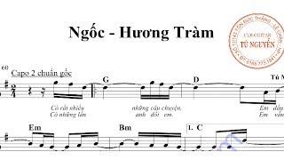 Ngốc - Hương Tràm guitar cover (sheet và hợp âm)